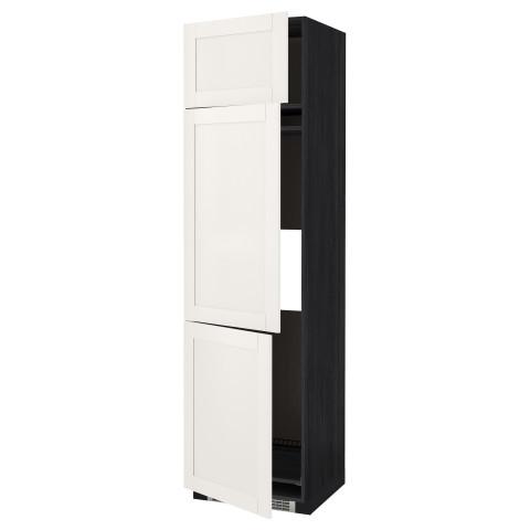 Высокий шкаф для холодильника или морозильника, с 3 дверями МЕТОД белый артикуль № 290.648.45 в наличии. Интернет магазин ИКЕА Беларусь. Недорогая доставка и установка.