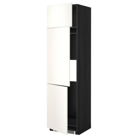 Высокий шкаф для холодильника или морозильника, с 3 дверями МЕТОД белый артикуль № 299.207.10 в наличии. Интернет магазин IKEA РБ. Недорогая доставка и соборка.