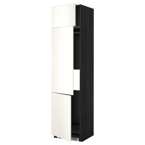 Высокий шкаф для холодильника или морозильника, с 3 дверями МЕТОД черный артикуль № 299.207.29 в наличии. Online магазин IKEA РБ. Недорогая доставка и монтаж.