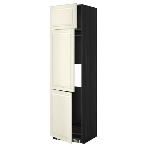 Высокий шкаф для холодильника или морозильника, с 3 дверями МЕТОД черный артикуль № 299.255.43 в наличии. Online каталог ИКЕА Минск. Быстрая доставка и монтаж.