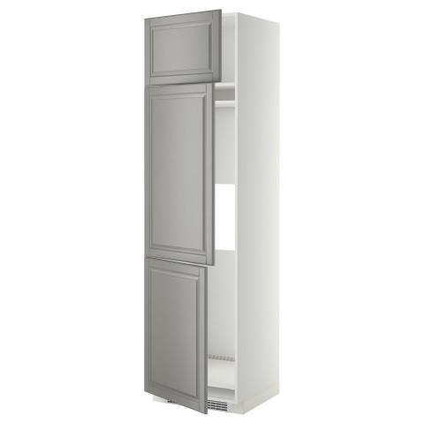 Высокий шкаф для холодильника или морозильника, с 3 дверями МЕТОД серый артикуль № 299.256.61 в наличии. Онлайн магазин IKEA Республика Беларусь. Быстрая доставка и соборка.