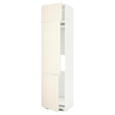Высокий шкаф для холодильника или морозильника, с 3 дверями МЕТОД белый артикуль № 390.541.67 в наличии. Онлайн магазин ИКЕА Беларусь. Быстрая доставка и монтаж.