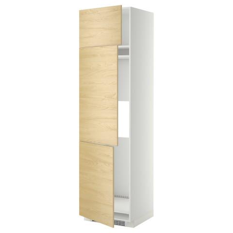Высокий шкаф для холодильника или морозильника, с 3 дверями МЕТОД белый артикуль № 399.250.24 в наличии. Онлайн каталог ИКЕА РБ. Недорогая доставка и монтаж.