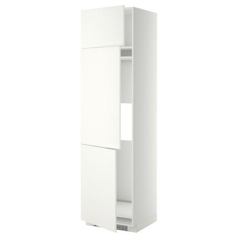Высокий шкаф для холодильника или морозильника, с 3 дверями МЕТОД белый артикуль № 499.253.06 в наличии. Интернет каталог IKEA РБ. Недорогая доставка и монтаж.