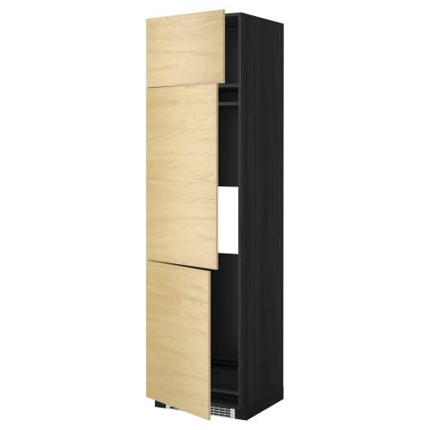Высокий шкаф для холодильника или морозильника, с 3 дверями МЕТОД черный артикуль № 599.250.23 в наличии. Online каталог ИКЕА РБ. Недорогая доставка и соборка.