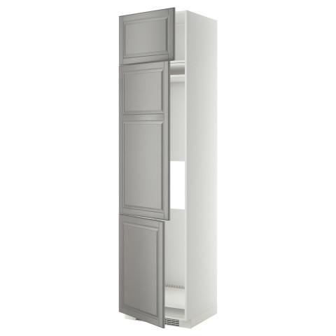 Высокий шкаф для холодильника или морозильника, с 3 дверями МЕТОД серый артикуль № 599.256.69 в наличии. Онлайн сайт ИКЕА Минск. Недорогая доставка и установка.