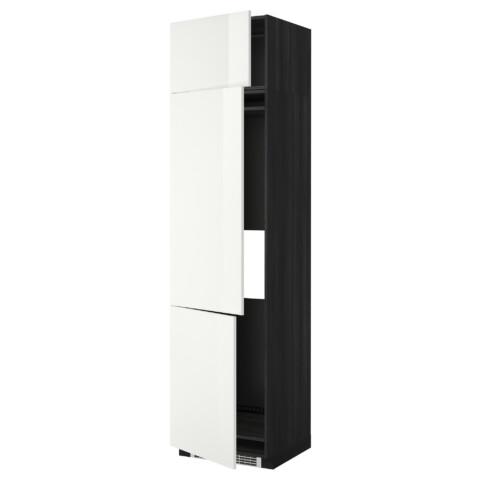 Высокий шкаф для холодильника или морозильника, с 3 дверями МЕТОД черный артикуль № 699.247.92 в наличии. Онлайн сайт ИКЕА Республика Беларусь. Недорогая доставка и соборка.