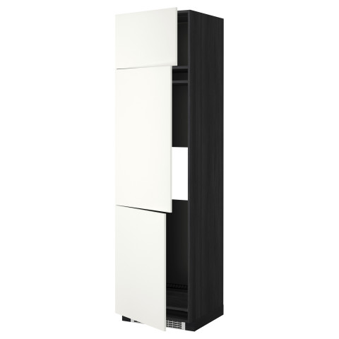 Высокий шкаф для холодильника или морозильника, с 3 дверями МЕТОД черный артикуль № 699.253.05 в наличии. Интернет магазин ИКЕА Республика Беларусь. Быстрая доставка и установка.