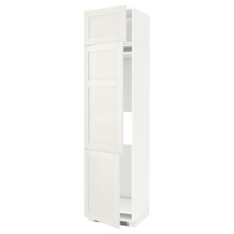 Высокий шкаф для холодильника или морозильника, с 3 дверями МЕТОД белый артикуль № 790.641.88 в наличии. Интернет каталог ИКЕА Беларусь. Недорогая доставка и соборка.