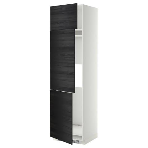 Высокий шкаф для холодильника или морозильника, с 3 дверями МЕТОД черный артикуль № 799.251.02 в наличии. Интернет сайт IKEA Республика Беларусь. Быстрая доставка и соборка.