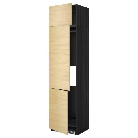 Высокий шкаф для холодильника или морозильника, с 3 дверями МЕТОД черный артикуль № 899.250.31 в наличии. Интернет магазин IKEA Минск. Быстрая доставка и монтаж.