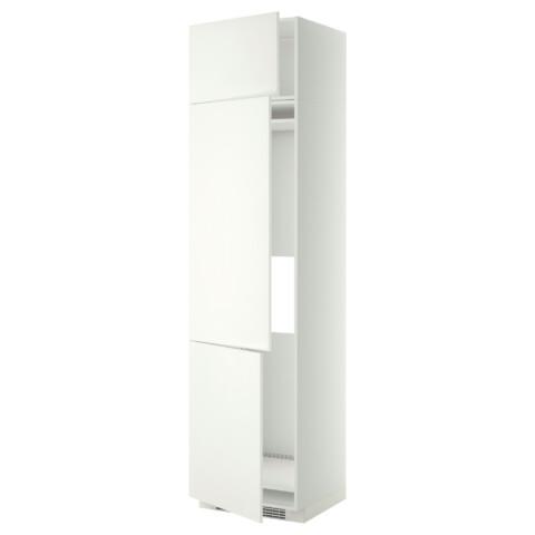 Высокий шкаф для холодильника или морозильника, с 3 дверями МЕТОД белый артикуль № 899.253.14 в наличии. Онлайн каталог IKEA Минск. Недорогая доставка и соборка.