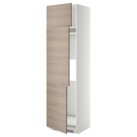 Высокий шкаф для холодильника или морозильника, с 3 дверями МЕТОД белый артикуль № 899.254.51 в наличии. Интернет каталог IKEA РБ. Недорогая доставка и установка.