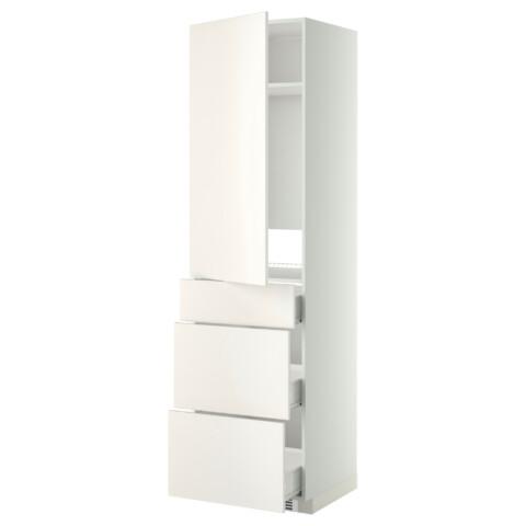 Высокий шкаф для холодильника, с дверцами, 3 ящика МЕТОД / ФОРВАРА белый артикуль № 099.207.25 в наличии. Интернет магазин IKEA Беларусь. Быстрая доставка и установка.