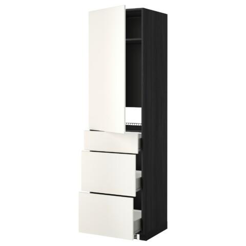 Высокий шкаф для холодильника, с дверцами, 3 ящика МЕТОД / ФОРВАРА белый артикуль № 399.207.24 в наличии. Онлайн магазин IKEA РБ. Быстрая доставка и установка.