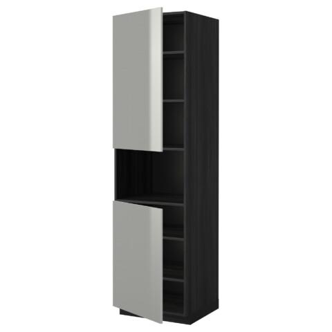 Высокий шкаф для/СВЧ, 2 дверцы, полки МЕТОД черный артикуль № 790.285.34 в наличии. Online каталог IKEA Беларусь. Недорогая доставка и установка.