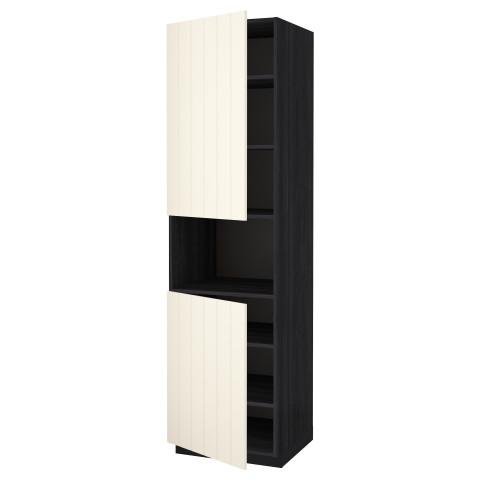 Высокий шкаф для/СВЧ, 2 дверцы, полки МЕТОД черный артикуль № 890.555.98 в наличии. Online сайт IKEA Беларусь. Недорогая доставка и установка.