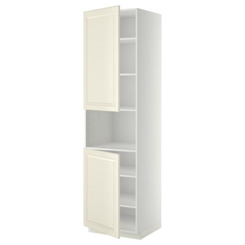 Высокий шкаф для/СВЧ, 2 дверцы, полки МЕТОД белый артикуль № 990.278.35 в наличии. Онлайн магазин IKEA РБ. Недорогая доставка и соборка.