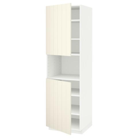 Высокий шкаф для/СВЧ, 2 дверцы, полки МЕТОД белый артикуль № 990.541.74 в наличии. Онлайн сайт IKEA Беларусь. Быстрая доставка и соборка.