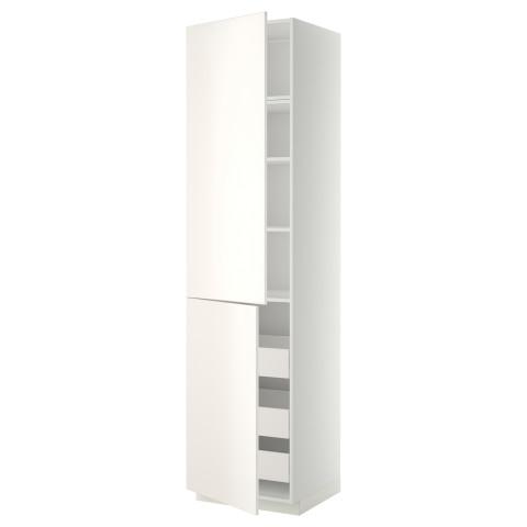 Высокий шкаф + полки, 3 ящика, 2 дверцы МЕТОД / ФОРВАРА белый артикуль № 499.199.80 в наличии. Онлайн магазин IKEA Беларусь. Недорогая доставка и установка.