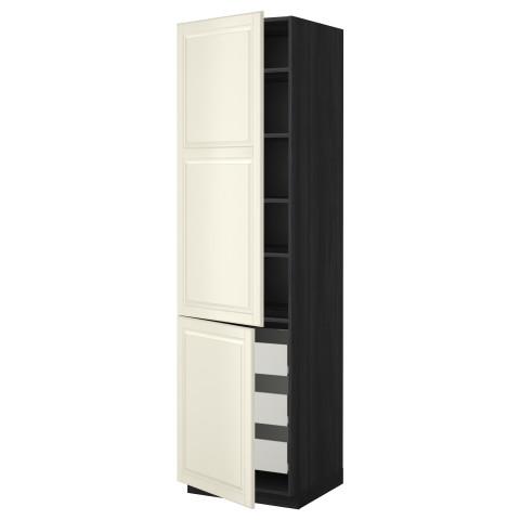 Высокий шкаф + полки, 3 ящика, 2 дверцы МЕТОД / ФОРВАРА черный артикуль № 899.222.64 в наличии. Онлайн каталог IKEA Минск. Быстрая доставка и соборка.