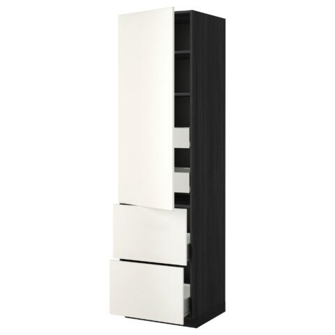 Высокий шкаф + полки, 4 ящика, 2 дверцы МЕТОД / ФОРВАРА белый артикуль № 099.176.95 в наличии. Онлайн магазин IKEA РБ. Быстрая доставка и монтаж.