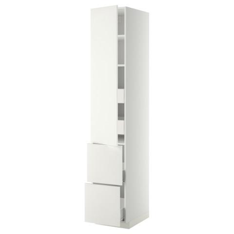 Высокий шкаф + полки, 4 ящика, 2 дверцы МЕТОД / ФОРВАРА белый артикуль № 299.209.08 в наличии. Онлайн магазин IKEA РБ. Быстрая доставка и установка.