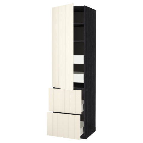 Высокий шкаф + полки, 4 ящика, 2 дверцы МЕТОД / ФОРВАРА черный артикуль № 390.557.70 в наличии. Интернет каталог IKEA Беларусь. Быстрая доставка и установка.