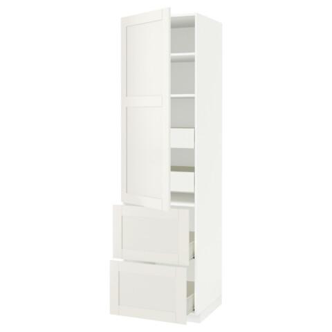 Высокий шкаф + полки, 4 ящика, 2 дверцы МЕТОД / ФОРВАРА белый артикуль № 490.637.03 в наличии. Интернет сайт IKEA Беларусь. Недорогая доставка и монтаж.