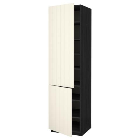 Высокий шкаф с полками, 2 дверцы МЕТОД черный артикуль № 190.555.73 в наличии. Онлайн магазин IKEA Республика Беларусь. Недорогая доставка и монтаж.