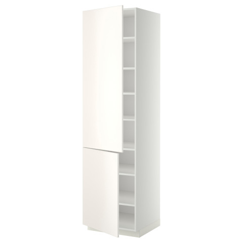 Высокий шкаф с полками, 2 дверцы МЕТОД белый артикуль № 199.176.90 в наличии. Online сайт IKEA Беларусь. Быстрая доставка и установка.