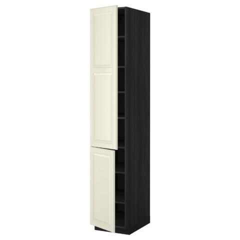 Высокий шкаф с полками, 2 дверцы МЕТОД черный артикуль № 299.222.38 в наличии. Online магазин IKEA Минск. Недорогая доставка и установка.