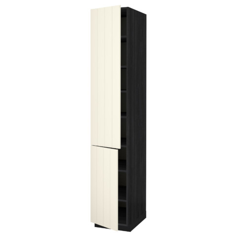 Высокий шкаф с полками, 2 дверцы МЕТОД черный артикуль № 390.555.72 в наличии. Интернет каталог IKEA РБ. Быстрая доставка и установка.
