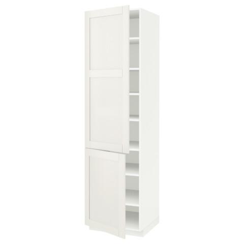 Высокий шкаф с полками, 2 дверцы МЕТОД белый артикуль № 390.641.71 в наличии. Онлайн каталог IKEA РБ. Недорогая доставка и соборка.