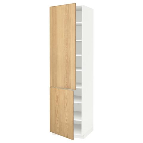 Высокий шкаф с полками, 2 дверцы МЕТОД белый артикуль № 490.532.90 в наличии. Онлайн магазин IKEA Беларусь. Быстрая доставка и монтаж.