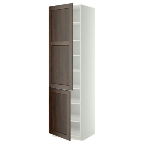 Высокий шкаф с полками, 2 дверцы МЕТОД белый артикуль № 599.219.68 в наличии. Online сайт IKEA Республика Беларусь. Быстрая доставка и монтаж.
