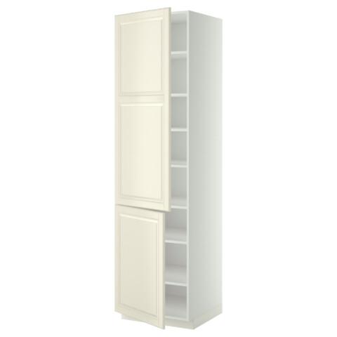 Высокий шкаф с полками, 2 дверцы МЕТОД белый артикуль № 699.222.41 в наличии. Online магазин IKEA Минск. Быстрая доставка и соборка.