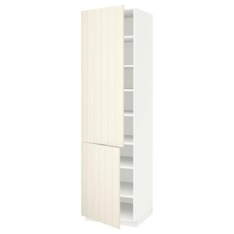 Высокий шкаф с полками, 2 дверцы МЕТОД белый артикуль № 790.541.51 в наличии. Интернет магазин ИКЕА РБ. Быстрая доставка и соборка.