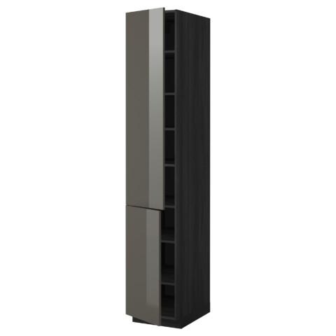 Высокий шкаф с полками, 2 дверцы МЕТОД черный артикуль № 899.214.29 в наличии. Онлайн каталог IKEA РБ. Быстрая доставка и соборка.