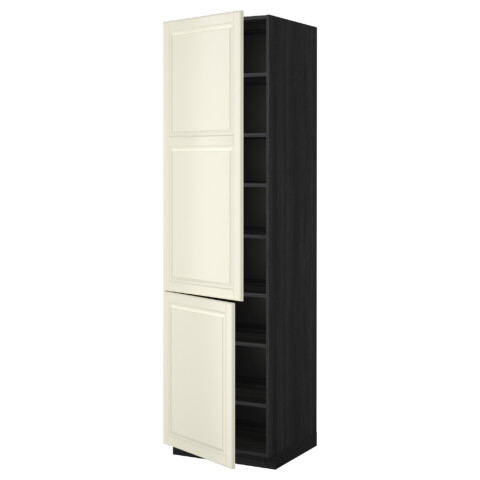 Высокий шкаф с полками, 2 дверцы МЕТОД черный артикуль № 899.222.40 в наличии. Интернет каталог IKEA РБ. Недорогая доставка и соборка.