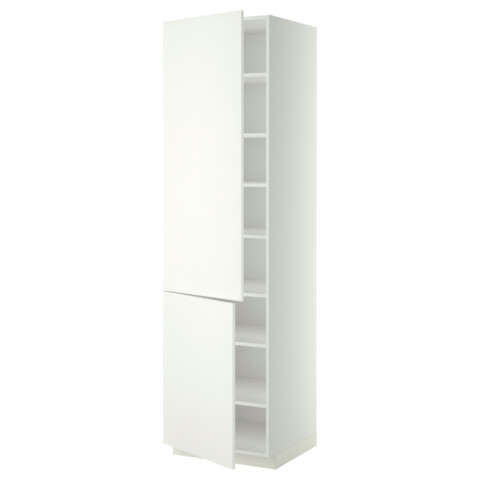 Высокий шкаф с полками, 2 дверцы МЕТОД белый артикуль № 999.208.96 в наличии. Онлайн сайт IKEA Республика Беларусь. Недорогая доставка и монтаж.