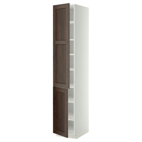 Высокий шкаф с полками, 2 дверцы МЕТОД белый артикуль № 999.219.66 в наличии. Онлайн каталог IKEA РБ. Быстрая доставка и монтаж.
