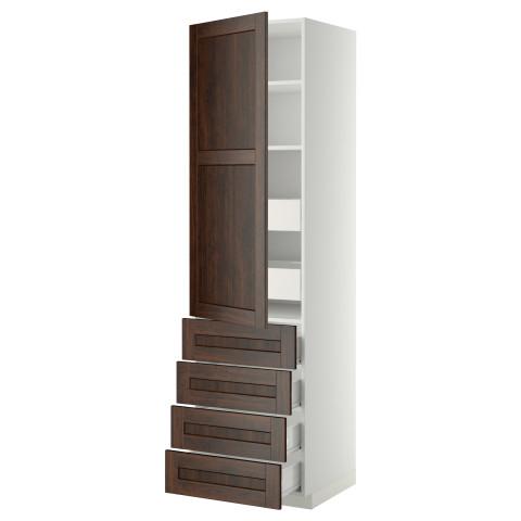 Высокий шкаф с полками/6 ящик, дверцами, 4 фронтальные панели МЕТОД / ФОРВАРА белый артикуль № 799.219.86 в наличии. Интернет сайт IKEA Минск. Быстрая доставка и монтаж.