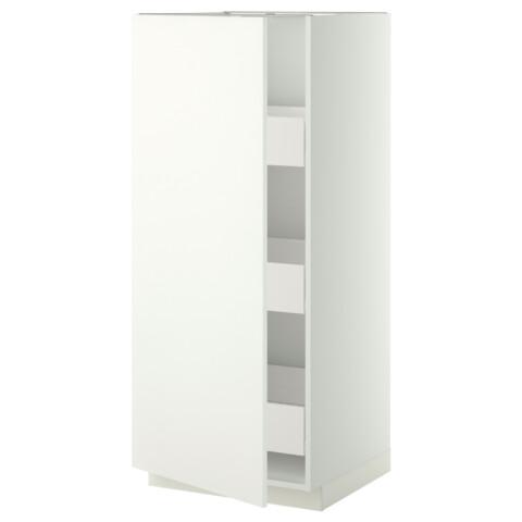 Высокий шкаф с ящиками МЕТОД / ФОРВАРА белый артикуль № 399.229.97 в наличии. Online сайт IKEA РБ. Недорогая доставка и соборка.