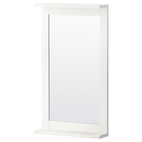 Зеркало с полкой СИЛВЕРОН белый артикуль № 302.680.02 в наличии. Онлайн сайт IKEA РБ. Недорогая доставка и установка.