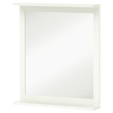 Зеркало с полкой СИЛВЕРОН белый артикуль № 502.680.01 в наличии. Online магазин IKEA РБ. Недорогая доставка и установка.
