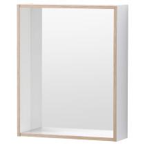 Зеркало с полкой ТИНГЕН белый артикуль № 602.976.25 в наличии. Online сайт IKEA Минск. Недорогая доставка и соборка.