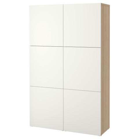 Комбинация для хранения с дверцами БЕСТО белый артикуль № 190.715.06 в наличии. Онлайн магазин IKEA Минск. Недорогая доставка и соборка.