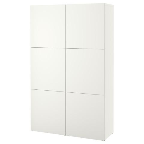 Комбинация для хранения с дверцами БЕСТО белый артикуль № 390.575.28 в наличии. Интернет каталог IKEA Минск. Быстрая доставка и монтаж.