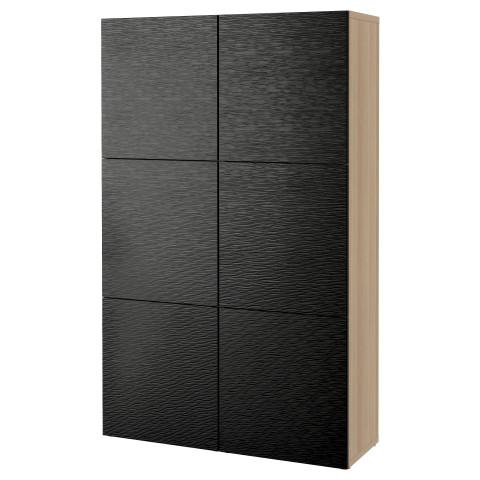Комбинация для хранения с дверцами БЕСТО черный артикуль № 490.715.19 в наличии. Online магазин IKEA Беларусь. Недорогая доставка и монтаж.